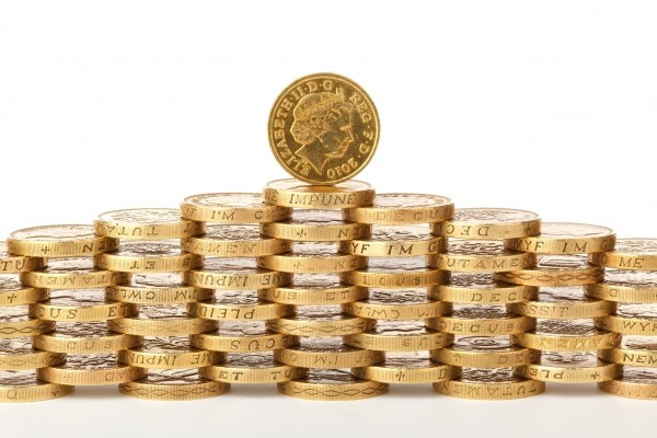 coins-on-white-background